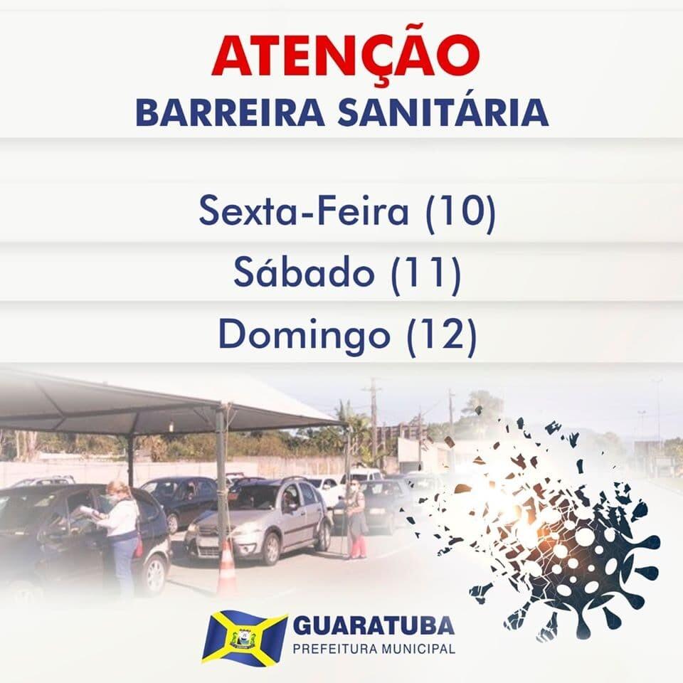 Coronavírus: Guaratuba instala barreiras sanitárias para evitar entrada de turistas em fins de semana 1